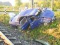 На Львівщині потяг збив легковик на залізничному переїзді