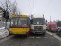 У Львові відбулося зіткнення автомобілів «МАН», «Деу» і тролейбуса
