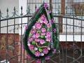 Нардепу Деньковичу повісили на паркан похоронний вінок