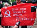 Комуністи все ж розгорнули червоний прапор у Львові