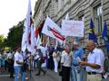 Опозиція Львівщини заблокувала приміщення Львівської ОДА та розпочала безстрокову акцію протесту